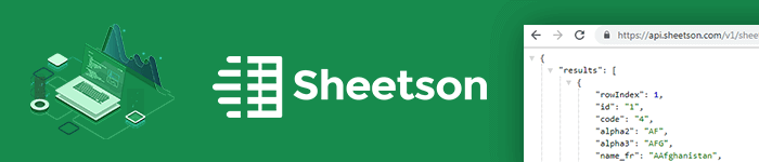 Transformer une feuille Google Sheet en une API RESTful avec Sheetson
