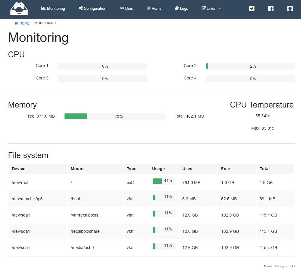 Une interface Web de gestion pour votre Recalbox