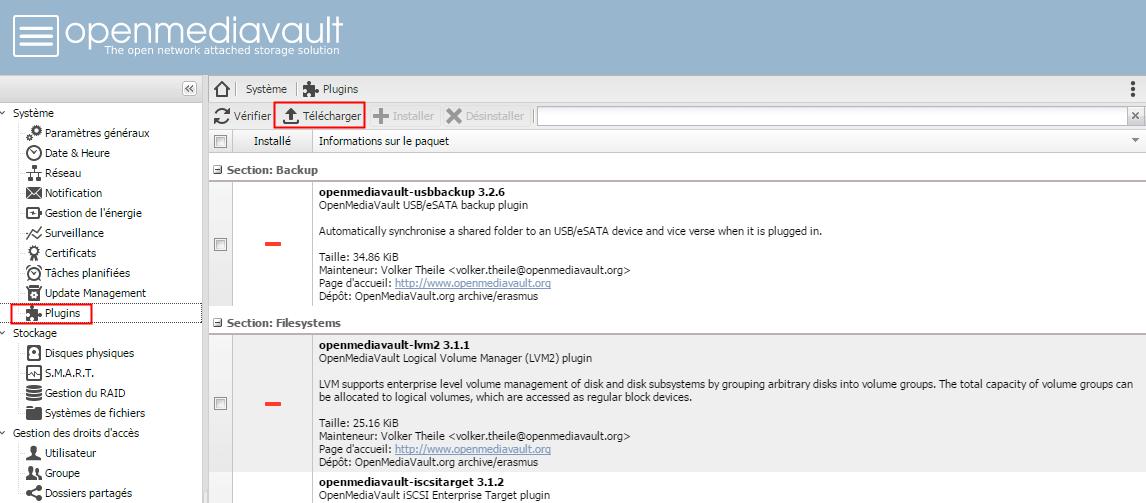 Projet NAS@home : OpenMediaVault, LE système pour NAS (partie 4