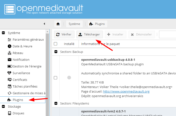 Install Docker Omv