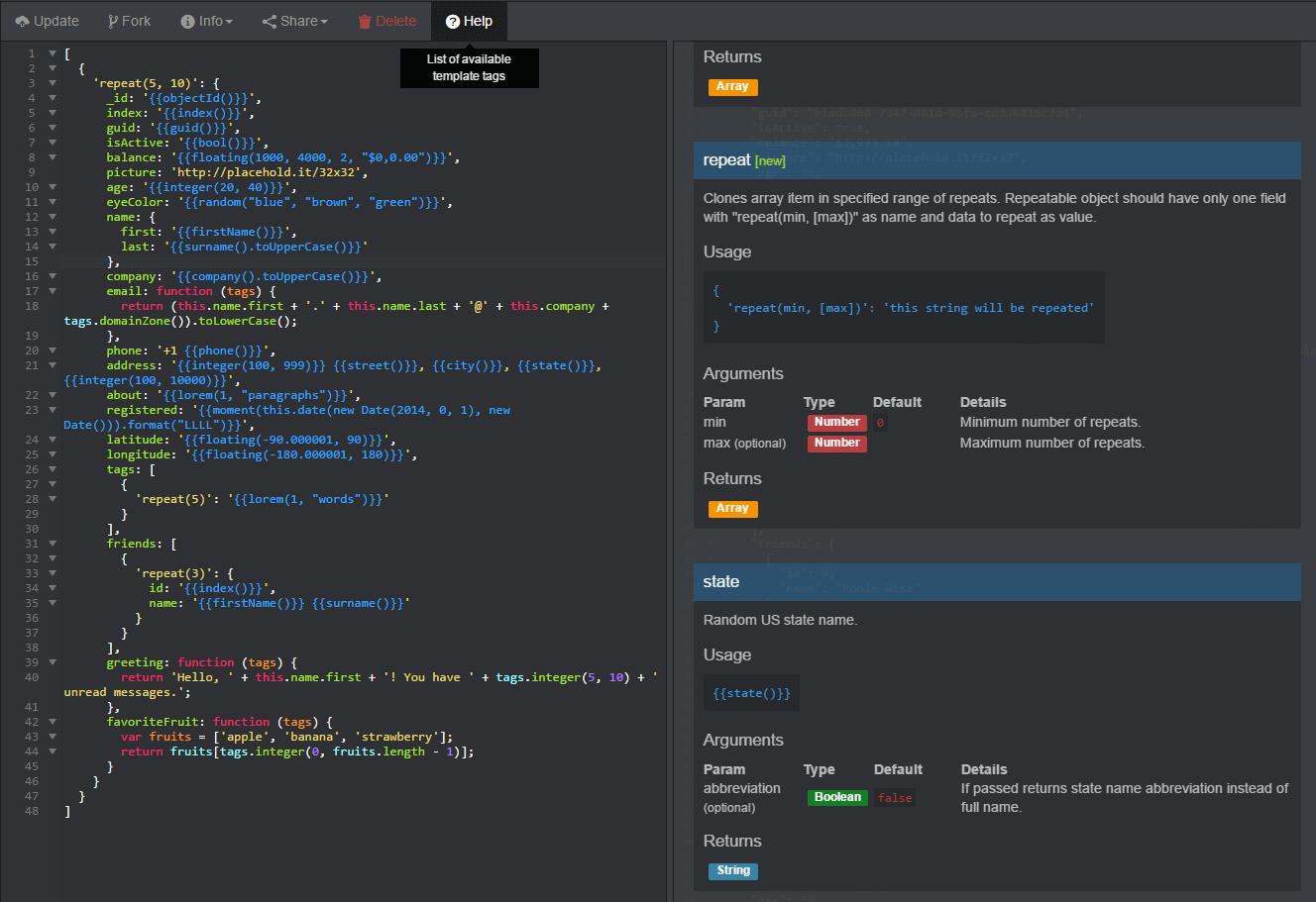 Générer un JSON contenant des jeux d'essais réalistes - Dév  Web
