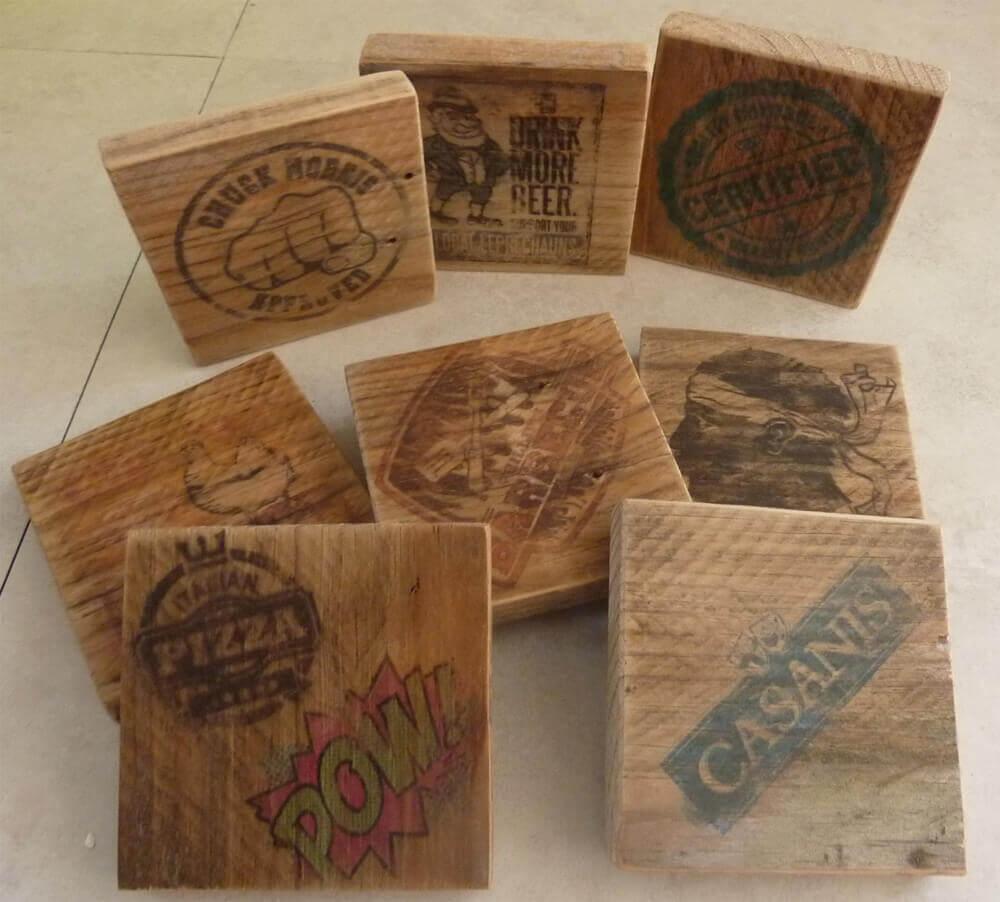 Fabriquer des dessous de verre en bois bricolage for Fabriquer un miroir en bois
