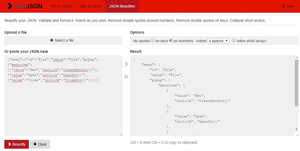 Des outils en ligne pour reformater votre JSON - Dév  Web